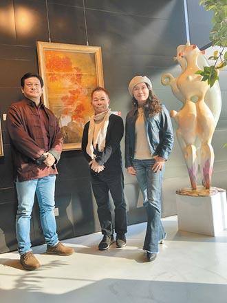 鉅虹美學館展覽 雕塑、繪畫交織