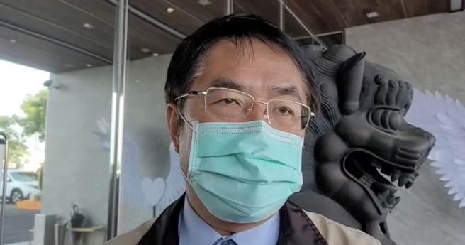 台南市長黃偉哲尊重檢察官偵辦給社會和被害者及家屬一個交代。(曹婷婷攝)