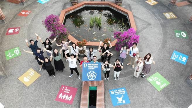 因應聯合國永續發展目標(SDGS),朝陽科大師生積極營造低碳生態校園,成效卓著。(朝陽科大提供/林欣儀台中傳真)
