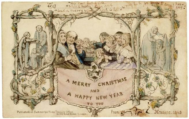 全世界第一張耶誕卡片係英國V&A創始館長亨利.科爾所製作。(取自V&A官網)
