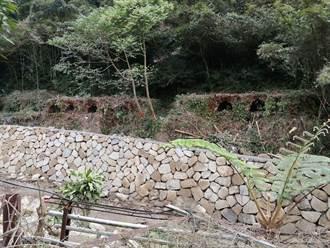 三峽鹿母潭溪整治防土石坍崩 保存日治時期焦炭窯遺址