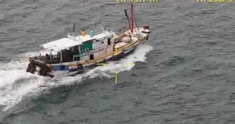 高雄茄萣外海漁船違規拖網 海巡出動無人機空拍蒐證