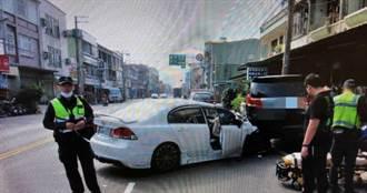 屏東新園自小客車直撞路邊休旅車 車毀8歲女童頭傷昏迷