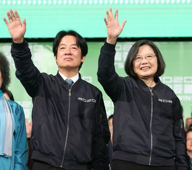 總統蔡英文(右)、副總統賴清德(左)。(圖/本報系資料照)