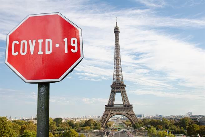 法國通報出現第一起2019冠狀病毒疾病(COVID-19)新變種病毒病例,同時境內確診與死亡病例攀升,當局擔憂這個歐元區第2大經濟體出現新一波疫情。(示意圖/shutterstock)