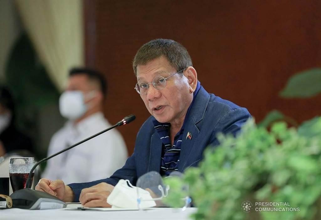 杜特蒂26日晚间出席与新冠工作小组的会议。菲律宾总统府提供(photo:ChinaTimes)