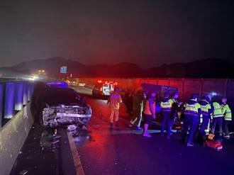 台62西向3車追撞 女駕駛一度受困送醫救治