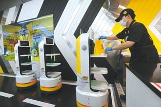 日韓推送餐機器人