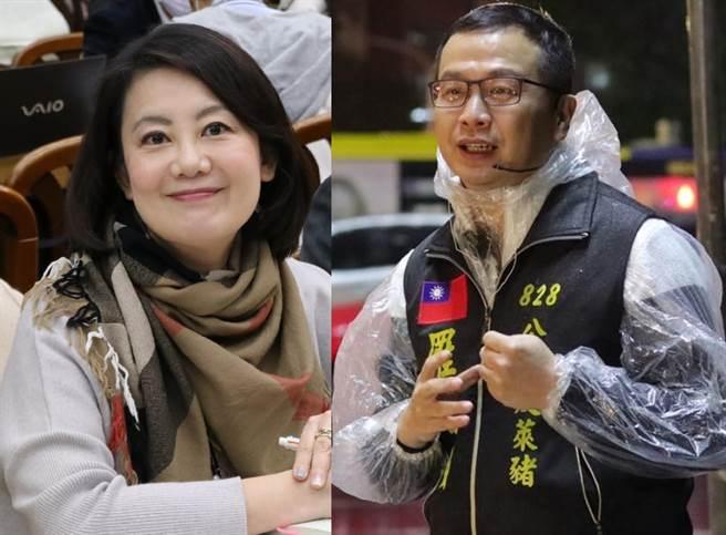 民進黨立委吳思瑤(左)、台北市議員羅智強。(合成圖/摘自吳思瑤、羅智強臉書)