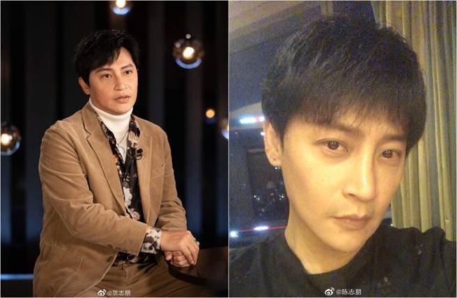 49歲陳志朋狂剷10公斤,瘦成帥氣V臉、年輕有型。(圖/取材自陳志朋微博)