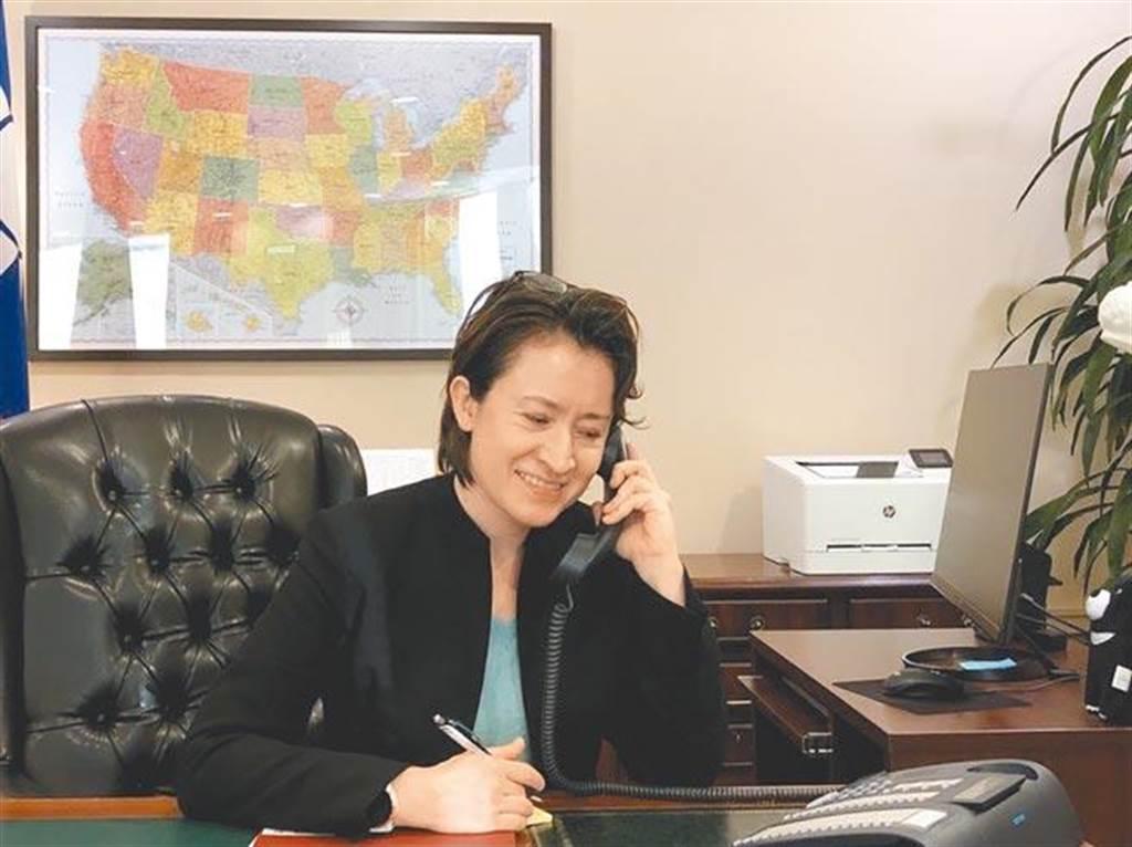 美台「政治軍事對話」,駐美代表蕭美琴說,沒有更進一步訊息可以透露。(駐美代表處提供)