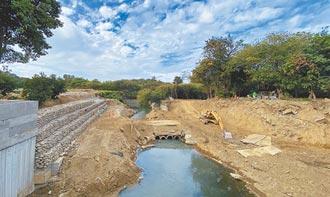 台南竹溪護岸邊坡 搶修後加強植被