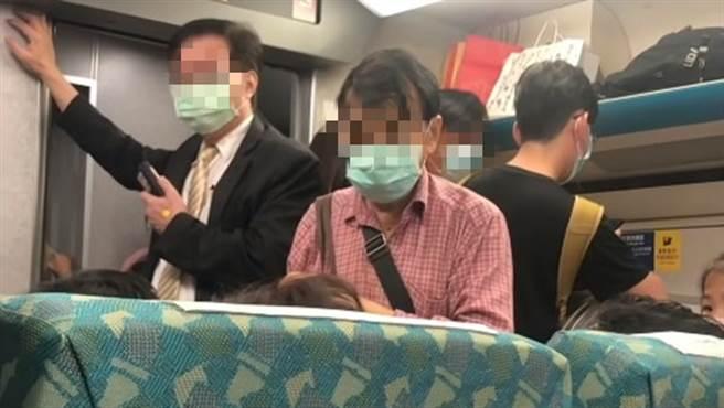一名男子上了高鐵後,就不斷地找博愛座,甚至對著其他乘客辱罵「不要臉、不知羞恥」等難聽字眼。(圖/翻攝自YouTube)