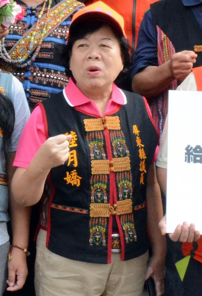 陸月嬌遭判褫奪公權後解除議員資格,她說,這也是沒辦法的事。(本報資料照片)