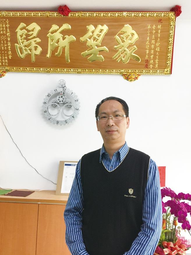利茗機械總經理林育興。圖/陳至雄