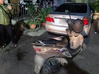 酒後騎機車拒受檢 逃進無尾巷擦撞路邊停車被逮