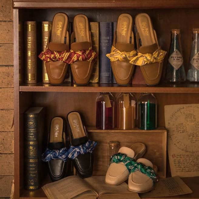誠品生活南西店的Grace Gift Harry Potter絲巾蝴蝶結穆勒鞋,推薦價1780元。(誠品提供)