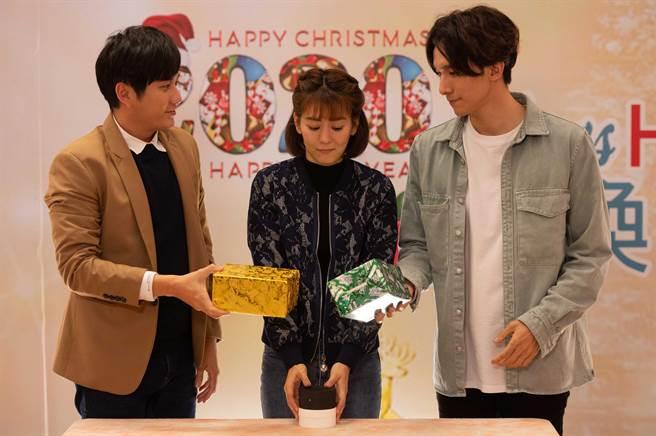 黃靖倫(左)和張瀚元(右)劇中同時喜歡王沛語。(TVBS提供)