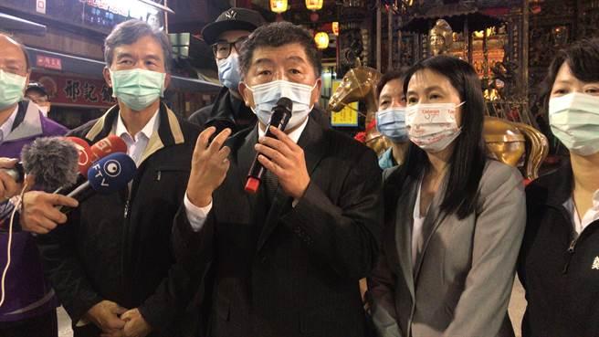 卫福部长陈时中表示,那是在紧张情况下不得已的作法。(陈彩玲摄)