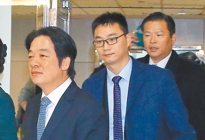 負責副總統賴清德維安的「萬里」警衛室主任謝靜華(右),日前通過體能測驗補測,3000公尺跑步項目以5公里競走替代方式完成,引發爭議。(本報資料照片)