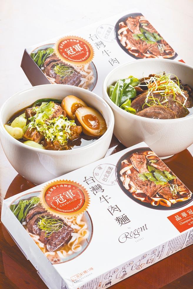 7-11×晶華酒店冠軍牛肉麵禮盒單入,330元。(7-11提供)