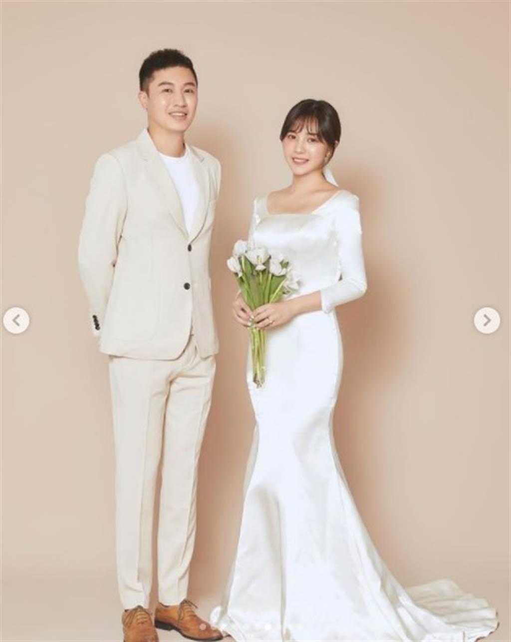 虞承璇今年10月成為新手人妻。(圖/IG@虞承璇)