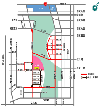 台中跨年中央公園盛大舉行 「交管地圖」看這裡