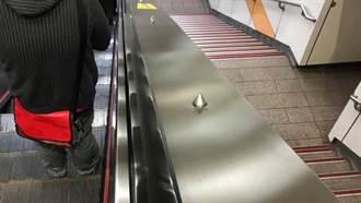 捷运手扶梯旁「尖状物」有何功用?知情人解析:超贴心