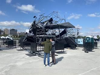 強風發威 中市8處路樹倒塌 氣象站:海線測到11級風