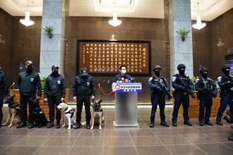 台北市跨年晚會反恐精銳盡出 千名警力與防爆犬進行維安