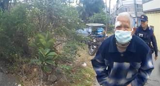迷途老翁跌倒路中 竹南警消即刻救援