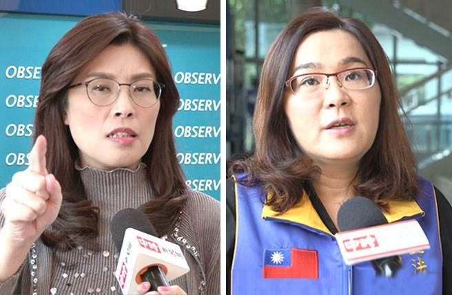國民黨立委鄭麗文(左)、陳玉珍(右)。(合成圖/素材均為本報系資料照片)