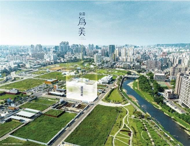 「京澄為美」基地座落於小檜溪重劃區的核心地段。(圖/業者提供)