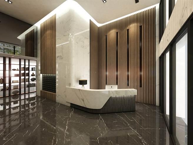 由建築師大師林伯諭建築大師操刀,外觀與公設設計,呈現大器時尚感的現代風格。(圖/業者提供)