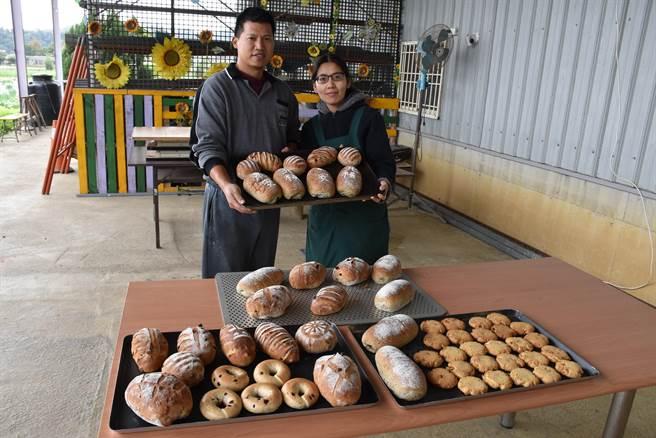 陳裕夫的歐式麵包,是習自名師親授。口感紮實,健康好吃。(謝明俊攝)