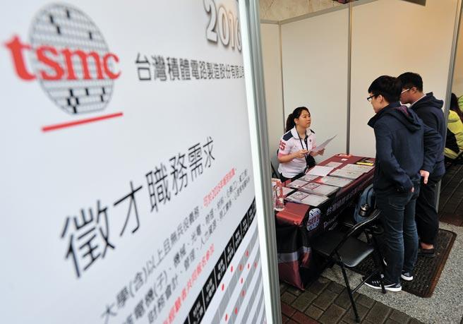 台灣需要把思維轉化成集體應用力,才能為各領域人才開啟新舞台。圖為台積電人才招募攤位。圖/本報資料照片