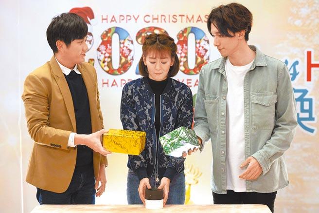 黃靖倫(左)和張瀚元(右)在新一季《女力報到》中同時喜歡王沛語。(TVBS提供)