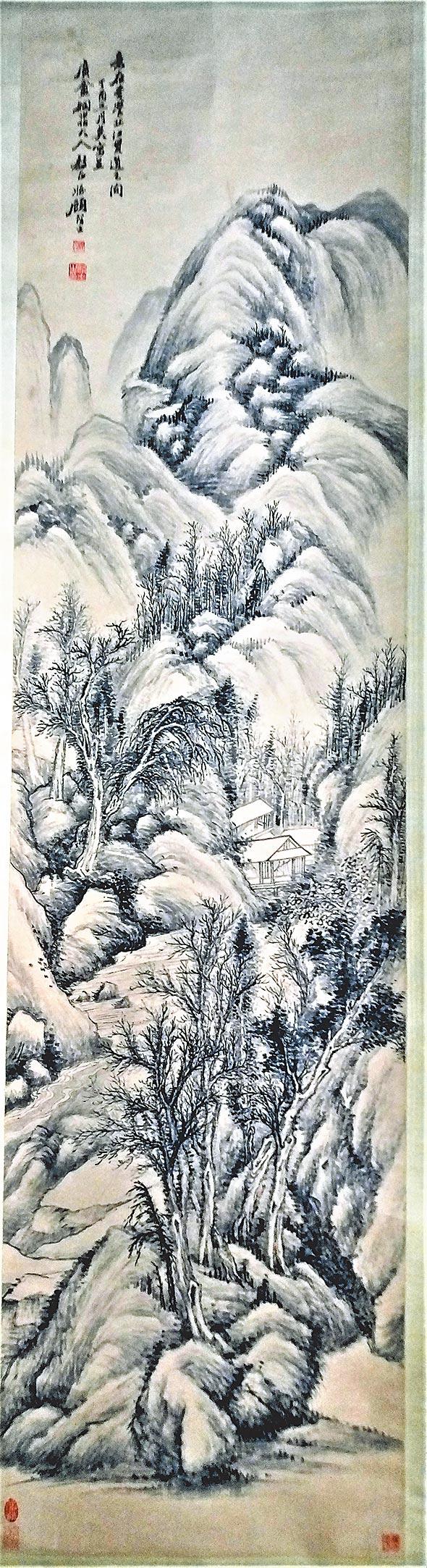 1865 顧麟士1897 33歲  仿李江筆意山水。(羅青提供)