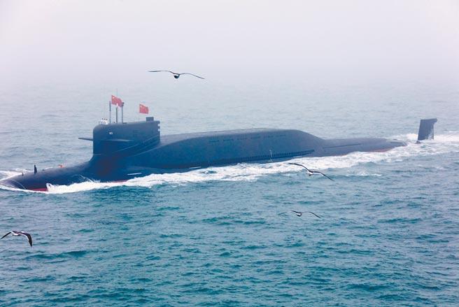 解放軍海軍戰略核潛艇。(中新社資料照片)