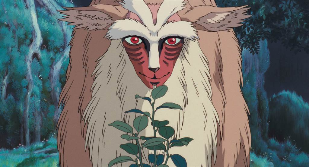 動畫電影《魔法公主》中「山獸神」的模樣。(圖/宮崎駿官網)