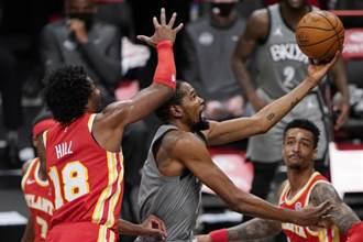 NBA》杜蘭特厄文聯手58分 籃網終結老鷹3連勝