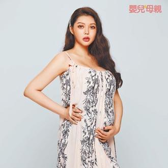 殷琦懷胎7月胖10公斤胸圍更豐滿