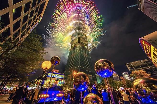 台北101跨年如期舉行,今晚7時開始實施交通管制。(圖/台北101提供)