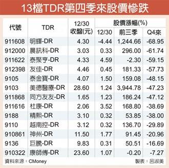 重回基本面 TDR股Q4慘跌
