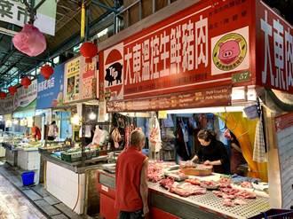 萊豬來了! 台南豬肉攤貼上「台灣豬貼紙」備戰