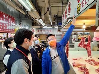 萊豬開放首日 大甲第一市場攤商均有標示