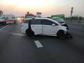 彰化國道1北上事故車主離奇失蹤 國道警:可開罰