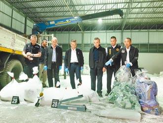 岩盐藏毒运台 警拦截1135公斤毒品