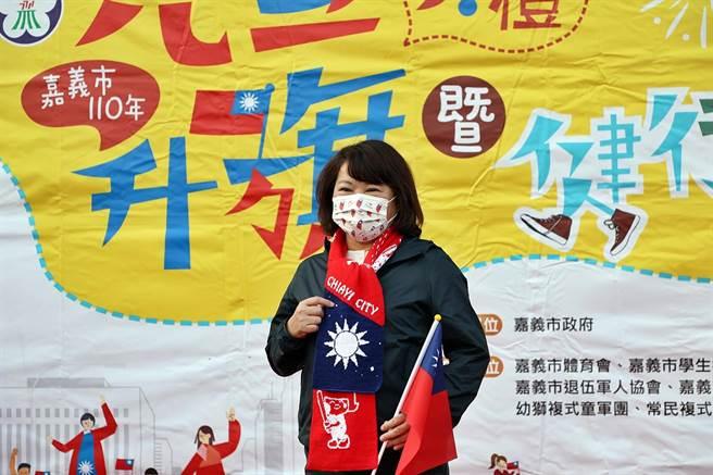 黃敏惠說,從跨年晚會到升旗典禮,是有史以來第一次不讓民眾參加,內心很不捨。(呂妍庭攝)