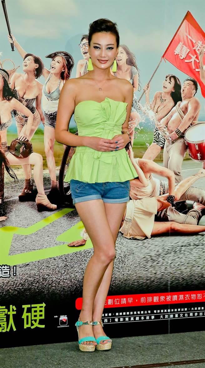 王李丹妮演出《一路向西》爆紅,當年來台宣傳。(羅永銘攝)